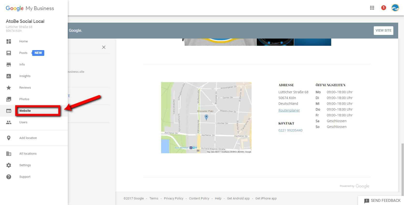 google my business atobesociallocal